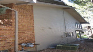 exterior painting service side after