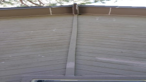 exterior painting service soffit before