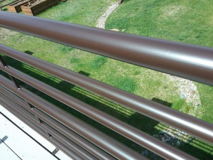 commercial painting company metall railing after