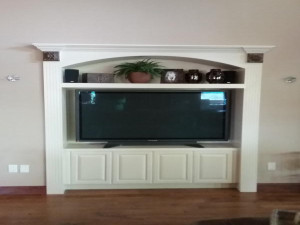 wood door restoration service mantle after