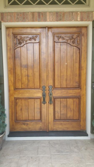 wood door repair services after