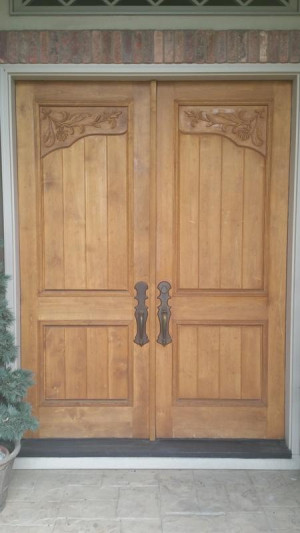 wood door repair services before