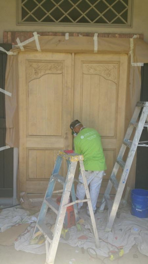 wood door repair services mid production