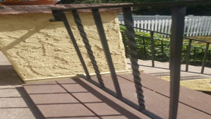 residential painting services metal railing after