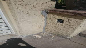 residential painting services stucco crack before
