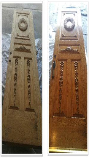 professional house painters entry door before after