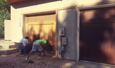 GARAGE DOOR RESTORATION in Boulder, CO